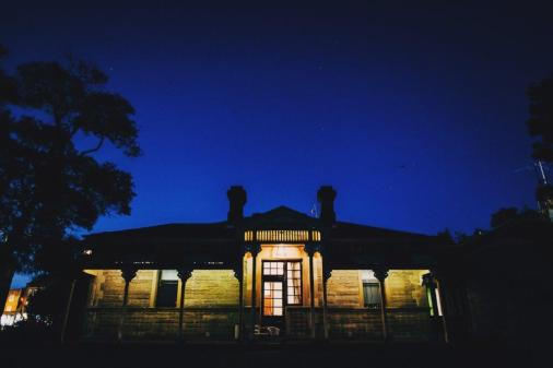 The Superintendents Residence at night.