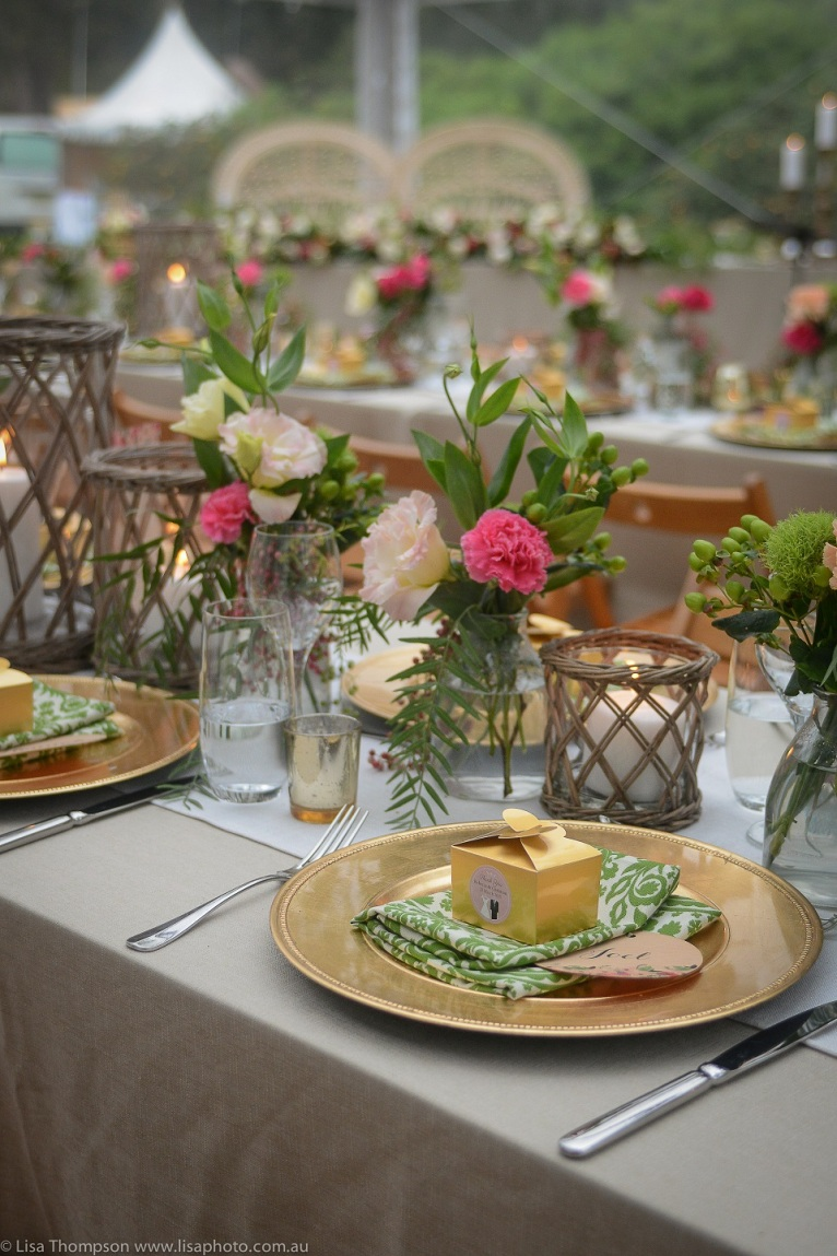 Elaborate tableware takes time to set. Save time and have a stylist help you.