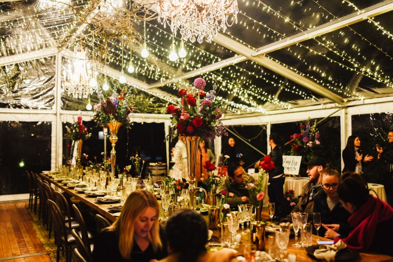 Fairy lights a romantic touch to any marquee. Photo: The Salty Shutter